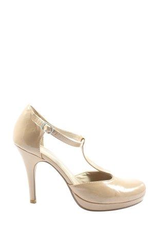 Tamaris T-Strap Pumps cream elegant