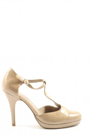 Tamaris T-Steg-Pumps creme Business-Look