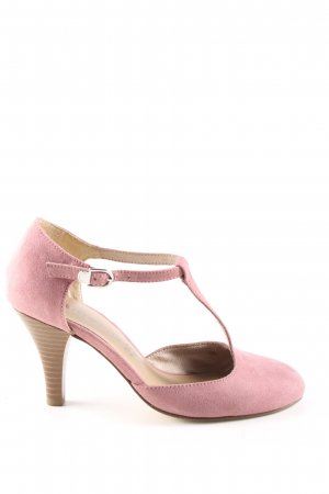 Tamaris T Strap Pumps pink business style
