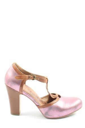 Tamaris T-Strap Pumps pink-brown casual look