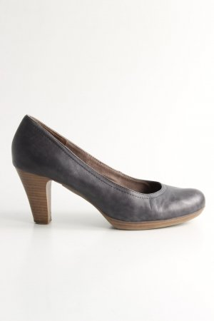 Tamaris T-Steg-Pumps schwarz-braun Business-Look