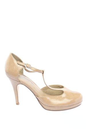 Tamaris Zapatos de tacón con barra en T blanco puro elegante