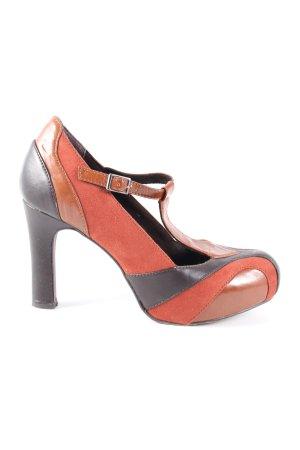 Tamaris Zapatos de tacón con barra en T multicolor estilo «business»