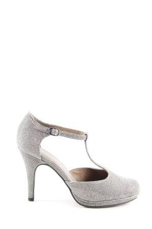 Tamaris Zapatos de tacón con barra en T gris claro elegante