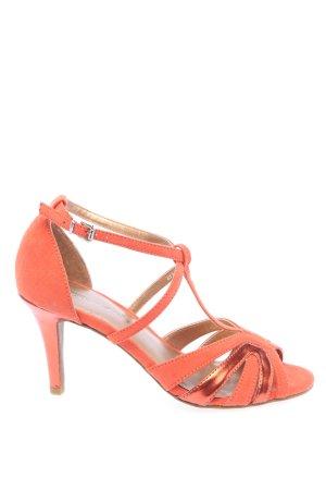 Tamaris Sandalo con tacco alto e lacci a T arancione chiaro elegante