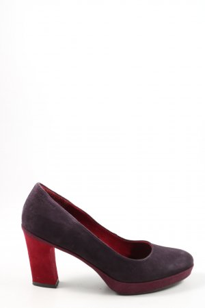 Tamaris Loafers black-red business style