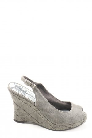 Tamaris Sandalo a zeppa grigio chiaro stile casual