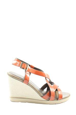 Tamaris Wedge Sandals light orange-natural white casual look
