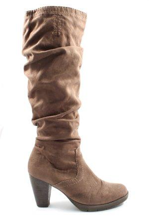 Tamaris Botas de pantorrilla ancha marrón elegante