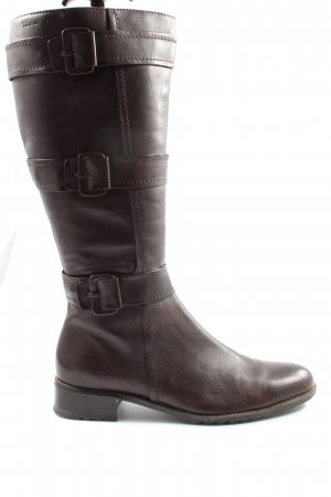 Tamaris Wide Calf Boots brown business style