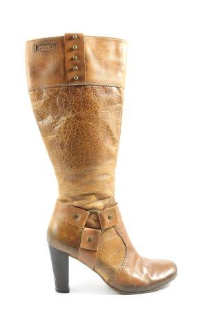 Tamaris Wide Calf Boots brown casual look