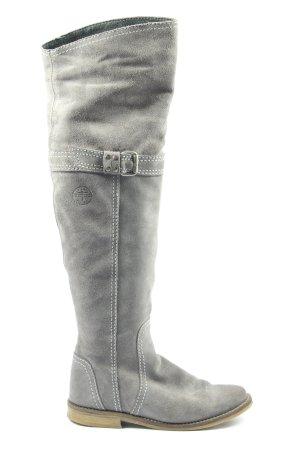 Tamaris Wide Calf Boots light grey casual look