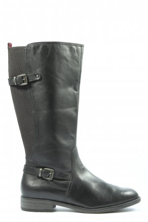 Tamaris Wide Calf Boots black casual look