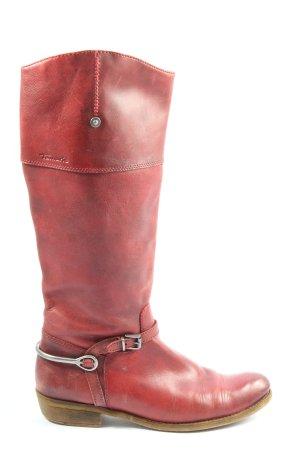 Tamaris Botas de pantorrilla ancha rojo look casual
