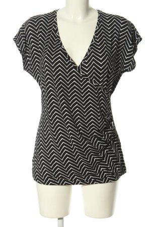 Tamaris Wraparound Shirt black-white allover print casual look
