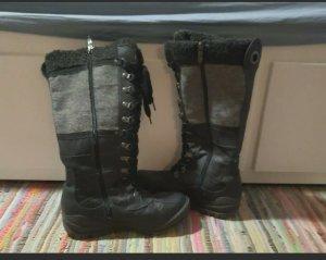 Tamaris Winter Boots black-dark grey