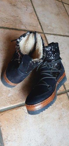 Tamaris Winter boots zwart-bruin