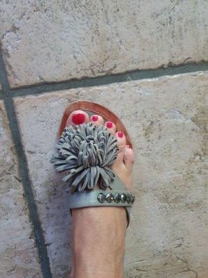 Tamaris Sandalias con talón descubierto color plata-gris