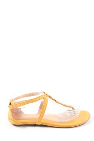 Tamaris Sandalo toe-post giallo pallido stile casual