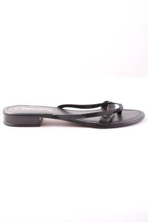 Tamaris Sandalo toe-post nero stile casual