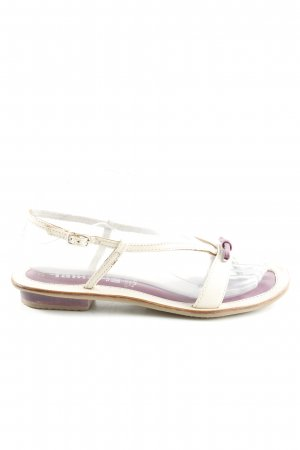 Tamaris Toe Post sandals natural white lilac casual look
