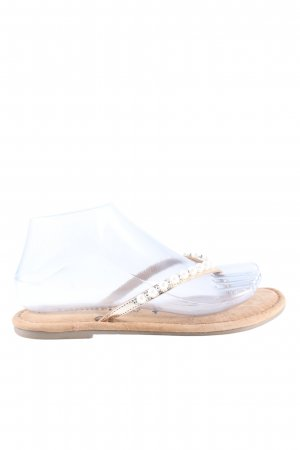 Tamaris Sandalo toe-post oro stile casual