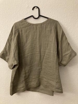 Muji Linen Blouse sand brown linen