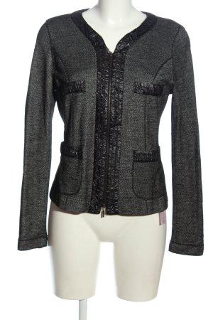 Tandem Blazer corto grigio chiaro-nero puntinato stile casual