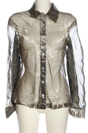 Tandem Camicia a maniche lunghe grigio chiaro-marrone stile casual