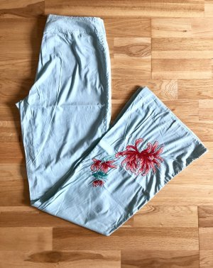 Tandem - schöne Baumwollhose mit Stickereien, Made in Italy, NEU