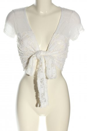 Tandem Knitted Bolero white casual look
