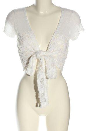 Tandem Bolero lavorato a maglia bianco stile casual