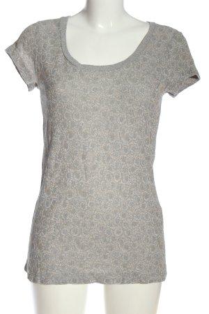 Tandem T-shirt grigio chiaro-bianco sporco stampa integrale stile casual