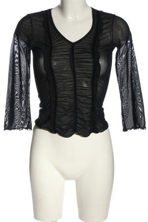 Tandem Blusa trasparente nero elegante