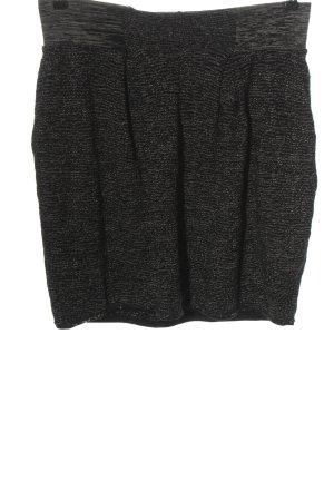 Tandem Gonna di lana nero puntinato stile casual