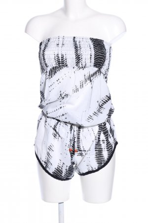 Jumpsuit weiß-schwarz abstraktes Muster Casual-Look