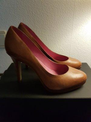 Tango High Heels mit Plateau in der Größe 39 aus Leder Braun Cognac
