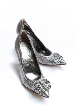 Tango Zapatos de punta color plata