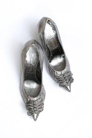 TANGO Leder Spitz Pumps High Heels Buffalo silber – NEU