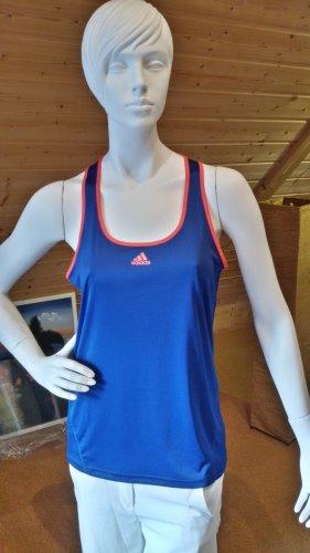 Adidas Débardeur de sport orange fluo-bleu