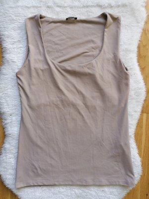 Tank Top in Nude mit Unterstoff im Brustbereich