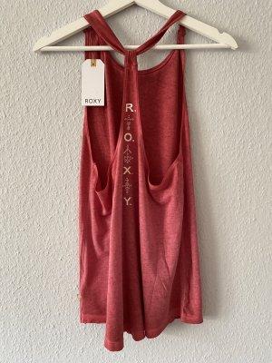 Roxy Tank Top bright red-brick red cotton