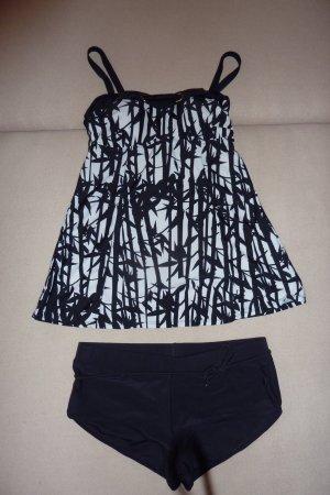 bpc bonprix collection Tankini noir-blanc polyamide