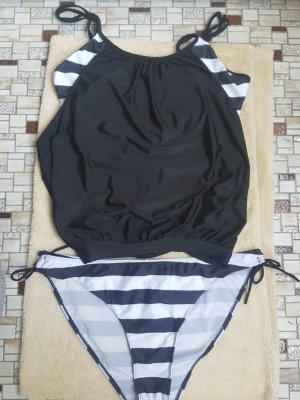 Tankini white-black