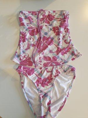 H&M Tankini biały-różowy