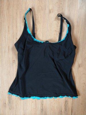 Lascana Tankini zwart-lichtblauw