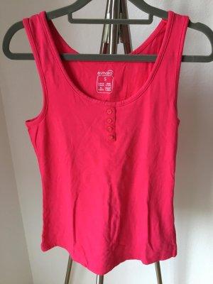 Esmara Tanktop czerwony Tkanina z mieszanych włókien