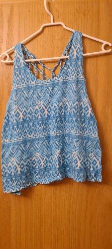 Tally Weijl Koszulka typu batik biały-jasnoniebieski