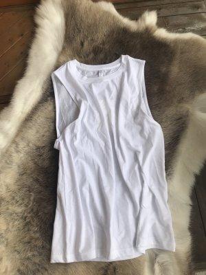 Fabletics Débardeur marcel blanc tissu mixte