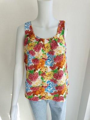 Tanktop Amisu S 36 Blumen T-Shirt Tshirt Shirt Spagettiträger Top hemd bluse pullover pulli Jacke